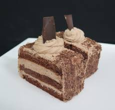 chocolate mousse slice