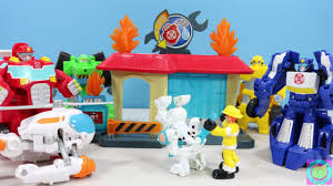 TRANSFORMERS RESCUE BOTS GRIFFIN ROCK FIREHOUSE, FAST LANE FIRE ...