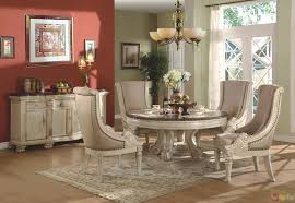 Astonishing Ideas Formal Round Dining Room Sets Brilliant Antique White