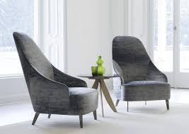 100 Contemporary Armchairs Armchair Fabric Leather Highback VANESSA