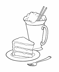 Birthday Party Sweets Coloring Page