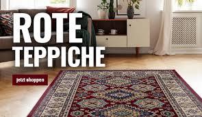 rote teppiche in vielen grössen muster bequem kaufen