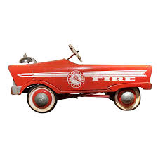 100 Antique Fire Truck Pedal Car Vintage Great Color Perfectpiece Home