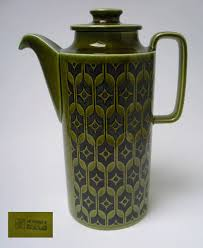 HORNSEA HEIRLOOM GREEN COFFEE POT 1960s