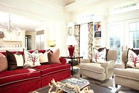 Good Red Couch Living Room For Decorating Rustic With Wool Area X