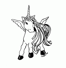 Unicorn Rainbow Coloring Pages Only