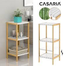 casaria standregal badregal küchenregal bambus badezimmerregal holz regal bad mdf weiß variante 3 ablagen