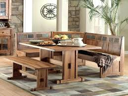 Nook Table With Bench Breakfast Dining Room Corner Set Within