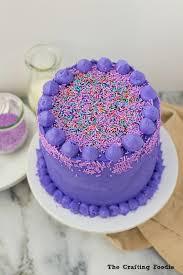 Strawberry Birthday Cake with Shimmery SprinklesThe Crafting Foo
