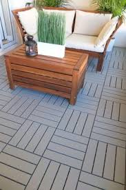 hardwood 36 x 18 snap in deck tiles in yard ideas