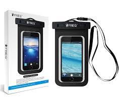 Amazon FRiEQ Waterproof Case for Outdoor Activities Waterproof Bag Pouch for Smartphones IPX8 Certified to 100 Feet Black Cell Phones &