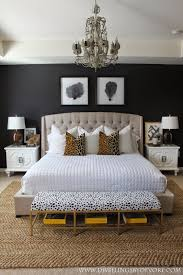 Yellow And Gray Bedroom Ideas by Stunning Bedroom With Black Walls Leopard Accents Gold Black