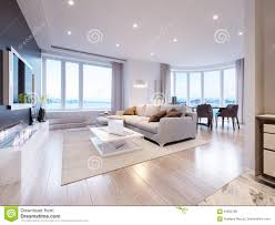 100 Modern White Interior Design Gray Living Room Stock