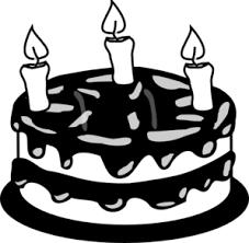 cake slice clipart black and white