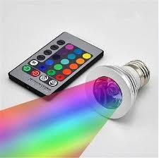 led rgb lights 3w e27 e14 mr16 gu5 3 gu10 led rgb spotlight 24 key