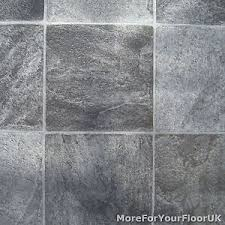 Image Is Loading Grey Stone Tile Vinyl Flooring Kitchen Bathroom Lino