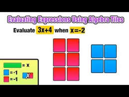 how can i use algebra tiles to evaluate expressions youtube