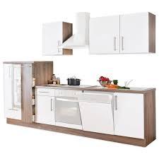küchenblock weiß lacklaminat matt trüffel 310 cm