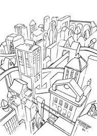 Gotham City Coloring Page This Is The Most Beautiful Among All Sheets Hellokids Has Selected Lovely