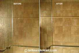 brite and clean windows shower door cleaning and water stain removal