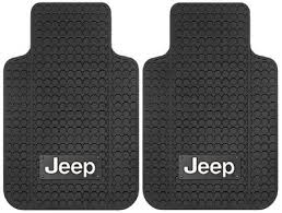 All Things Jeep Jeep Logo Floor Mat with Anti Skid Backing for