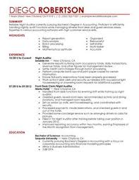 Hospitality Resume Examples As Job