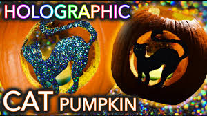 Funny Pumpkin Carvings Youtube by Holographic Cat Pumpkin Carving Threadbanger Un Box Ing Youtube