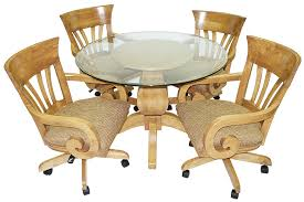 Dining Room Chairs For Glass Table by Glass Dinette Sets Metal Round Glass Table Tops Dinettes Glass