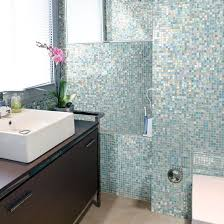 Blue Mosaic Bathroom Mirror by How To Use Wall Tile To Transform Your Bathroom Tish Flooring