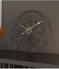 nordic metal iron large living room silent quartz modern design wall clock