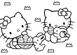 Download Coloring Pages Bunny Hello Kitty Easter