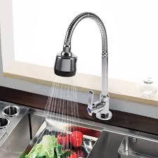 robinetterie evier cuisine cuisine évier robinet de zinc alliage pivotant bec mitigeur évier