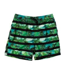 100 Coco Replublic Republic Mens Dinosaur Stripe Board Shorts In Green