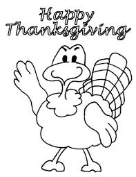 Little Turkey Greet Coloring Pages