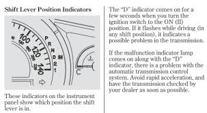 Malfunction Indicator Lamp Honda Civic by Flashing D Light Page 2 Honda Ridgeline Owners Club Forums