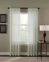 Kmart White Blackout Curtains by Trinity Crinkle Voile Sheer Curtain Panel Curtainworks Com