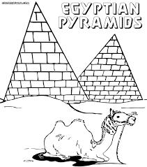 Egypt Pyramids Pharaoh Coloring Sheet