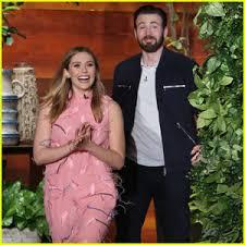Chris Evans Elizabeth Olsen Laugh Off Dating Rumors Video