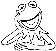 Kermit The Frog Excited Coloring Pages For Kids Printable Sesame Street