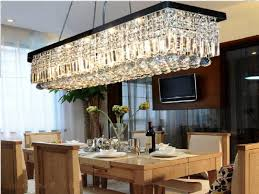 linear chandelier modern sturdy set with bench and chairs oval