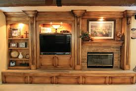 Rustic Tv Entertainment Centers Wood Wall Units For Flat Screen Tvs Center With Glass Doors