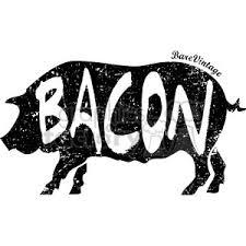 Royalty Free distressed pig bacon vector art design vector clip art image EPS SVG AI PDF illustration