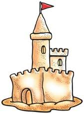 Simple Clipart Sand Castle 9