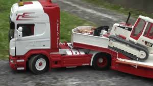 RC SCANIA TIEFLADER AWESOME RC TRUCK HEAVY LOAD ** Psv Wels | PETER ...
