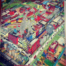 Adult Coloring Colouring Books Pencil Cities