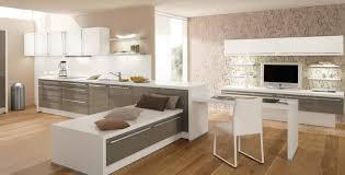 cuisine marron et blanc cuisine peinte en beige