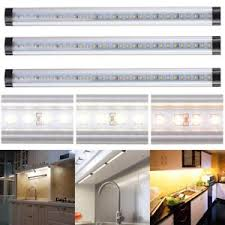 3pcs kitchen cabinet shelf counter led light bar lighting