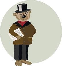 Daddy Teddy Bear Vector Art Illustration