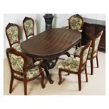 esstisch mit 6 stühlen mahagoni furnier ausziehbar