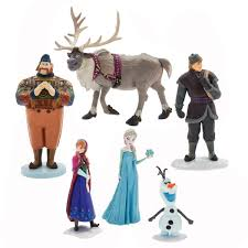 Amazoncom Disney Frozen Figurine Play Set Sven Anna Elsa
